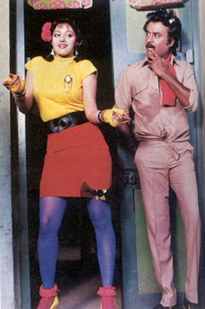 Sridevi and Rajinikanth in Chaalbaaz