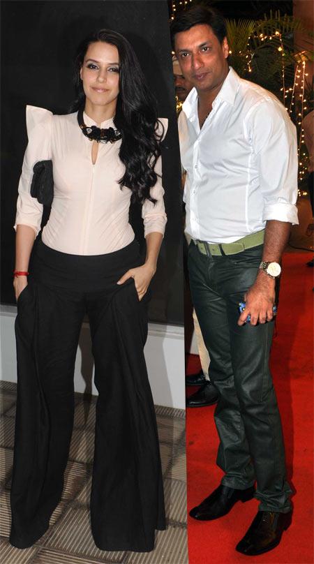 Neha Dhupia and Madhur Bhandarkar