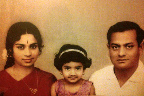 Sridevi (centre) with parents