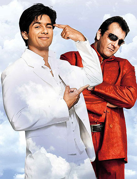 Shahid Kapoor and Sanjay Dutt in Life Ho Toh Aisi