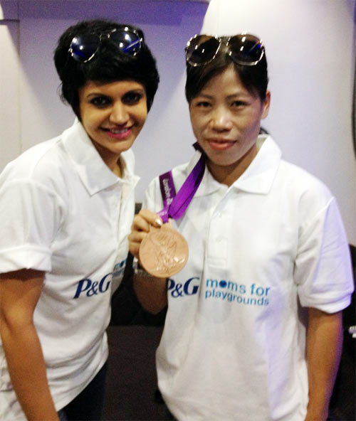 Mandira Bedi and Mary Kom