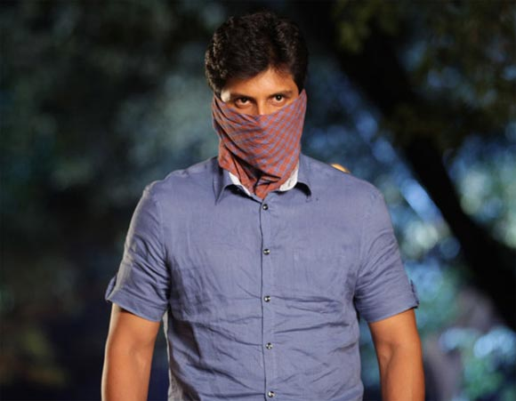 A scene from Mugamoodi