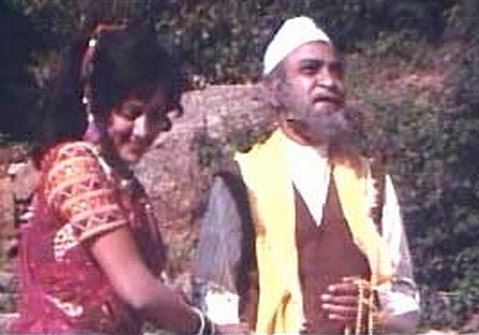 Hema Malini and A K Hangal in Sholay