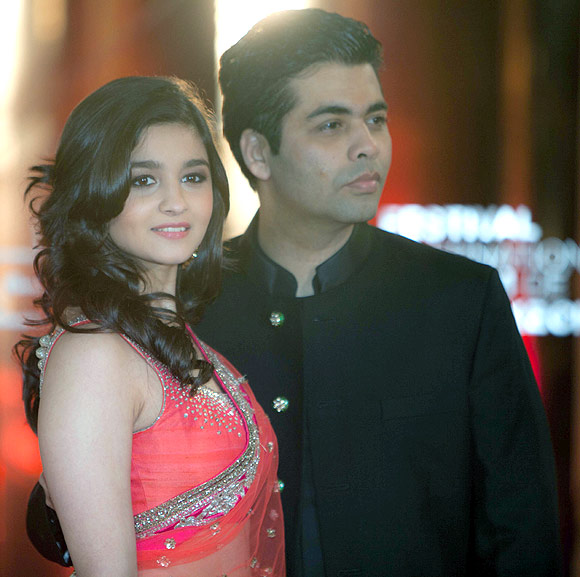 Karan Johar with Alia Bhatt