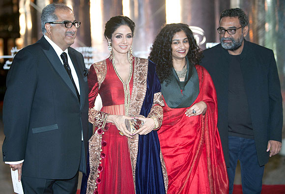 Boney Kapoor, Sridevi, Gauri Shinde and R Balki