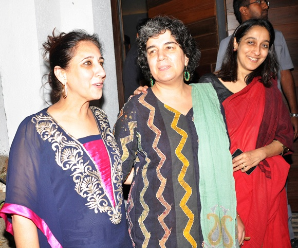 Reena Dutta and Nuzhat Khan with a friend