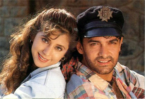 Urmila Matondkar and Aamir Khan in Rangeela