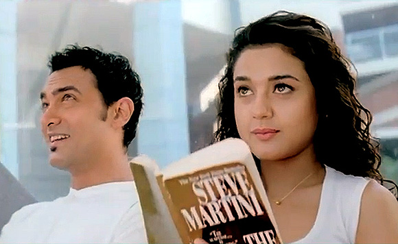 Preity Zinta and Aamir Khan in Dil Chahta Hai