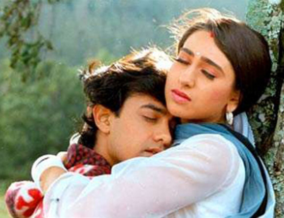 Karisma Kapoor and Aamir Khan in Raja Hindustani