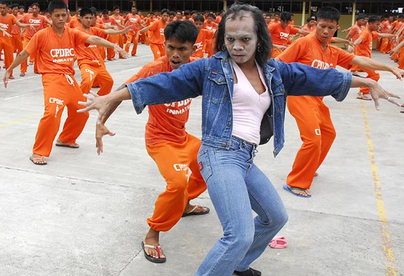 Prison inmates in Cebu Provincial Detention and Rehabilitation Center, Phillipines