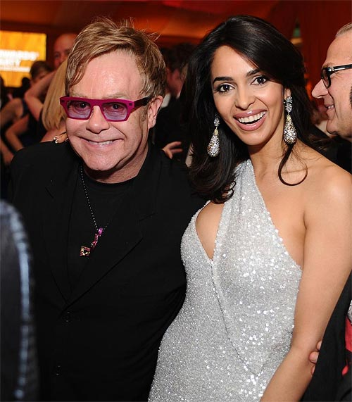 Sir Elton John and Mallika Sherawat