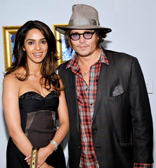 Mallika Sherawat and Johnny Depp