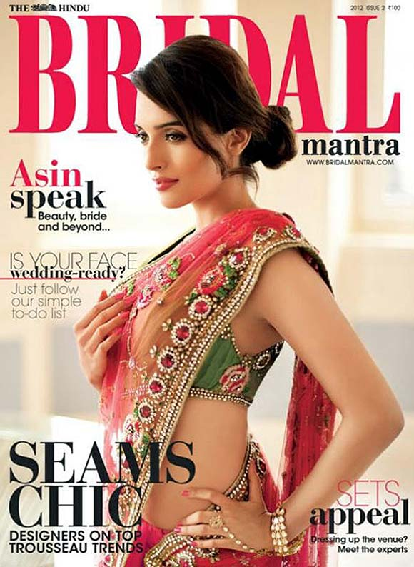 Asin on the cover of Bridal magazine