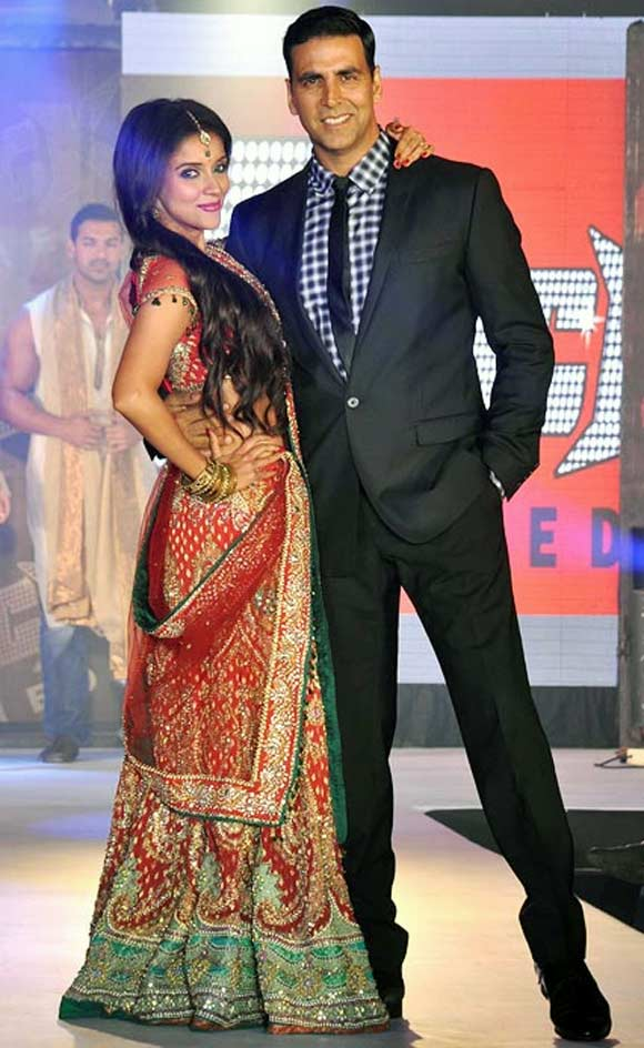 Asin with Housefull 2 costar Akshay Kumar