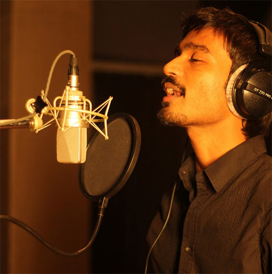 Dhanush in the song Kolaveri Di