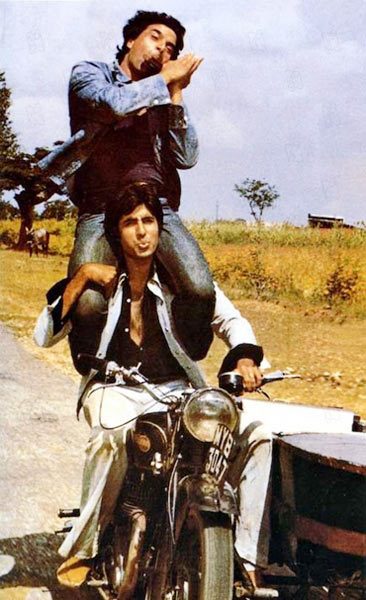 Amitabh Bachchan and Dharmendra in Sholay