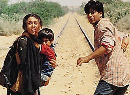 Karisma Kapoor and Shah Rukh Khan
