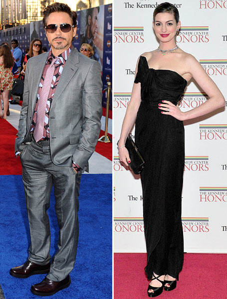 Robert Downey Jr and Anne Hathaway