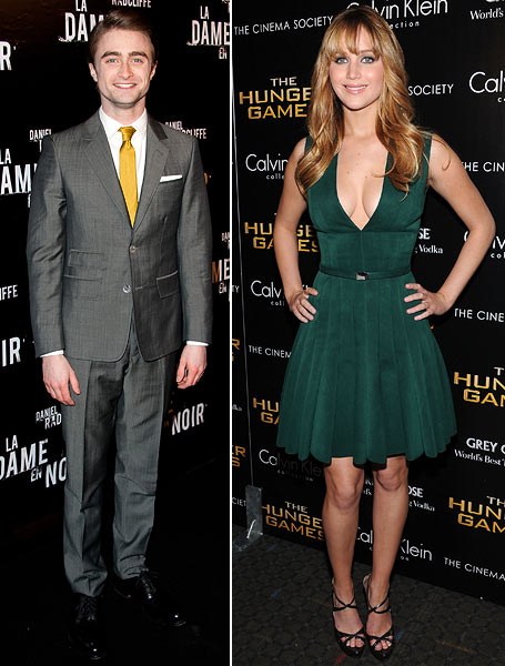 Daniel Radcliffe and Jennifer Lawrence