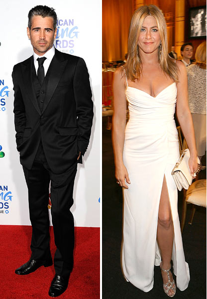 Colin Firth and Jennifer Aniston