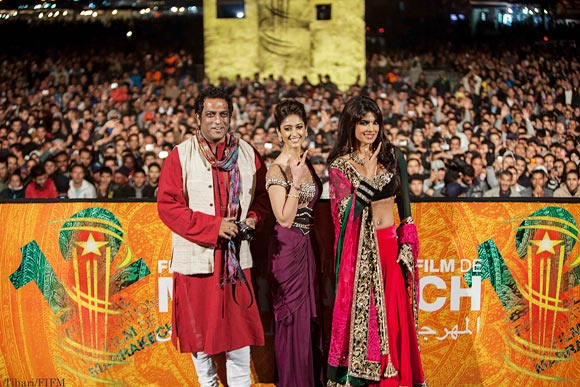 Anurag Basu, Ileana D'cruz and Priyanka Chopra