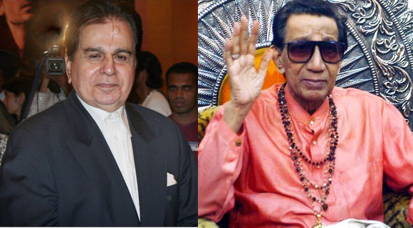 Dilip Kumar and Bal Thackeray