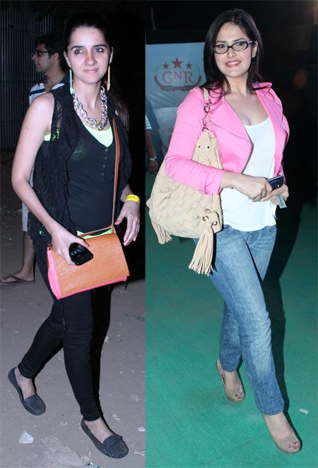 Shruti Seth and Zarine Khan