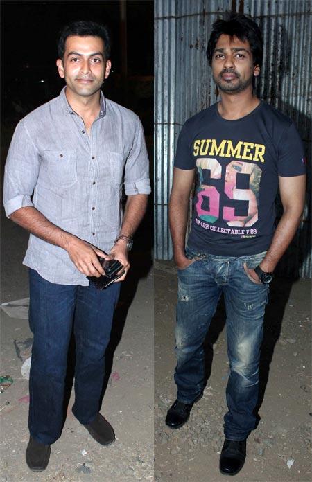 Prithviraj Sukumaran and Nikhil Dwivedi