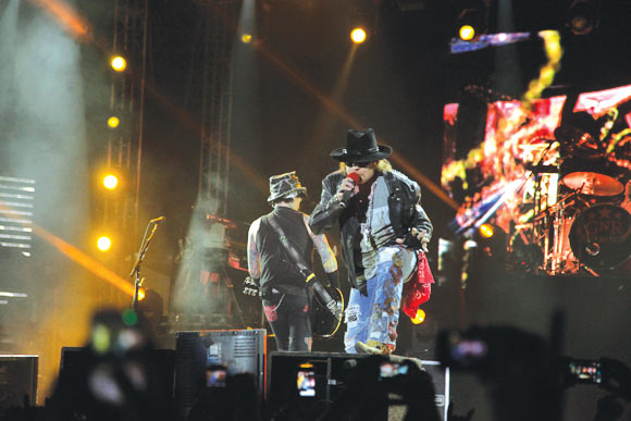 Guns N' Roses on stage
