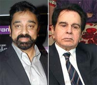 Kamal Haasan and Dilip Kumar