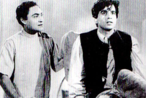 Ashok Kumar and Dilip Kumar in Deedar