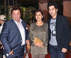 Rishi, Neetu and Ranbir Kapoor