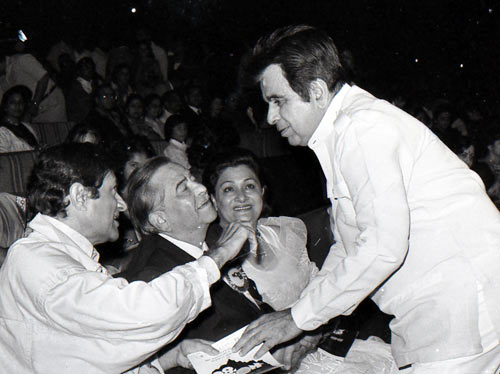 Dev Anand, Raj Kapoor, Krishna Raj and Dilip Kumar
