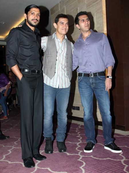 Farhan Akhtar, Aamir Khan and Ritesh Sidhwani