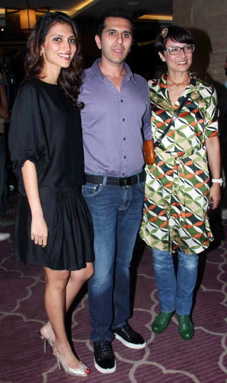 Dolly and Ritesh Sidhwani with Adhuna Akhtar