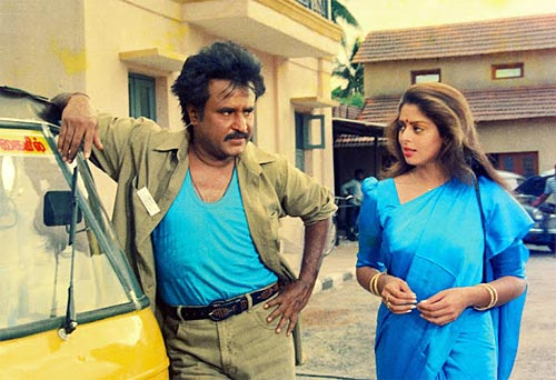 Rajinikanth and Nagma in Baasha