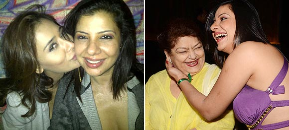 Sambhavna Seth with Sara Khan and Saroj Khan