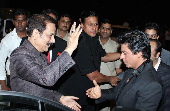 Subrata Roy and Shah Rukh Khan