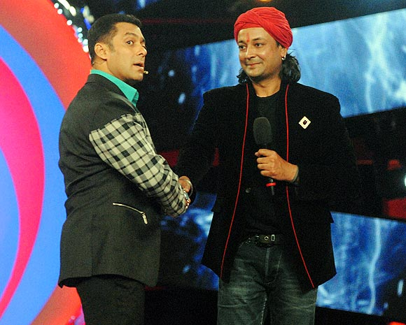 Salman Khan and Santosh Shukla