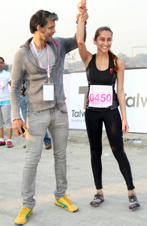 Milind Soman and Anusha Dandekar