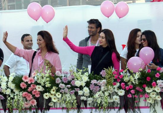 Devika Bhojwani, Minlind Soman and Karisma Kapoor