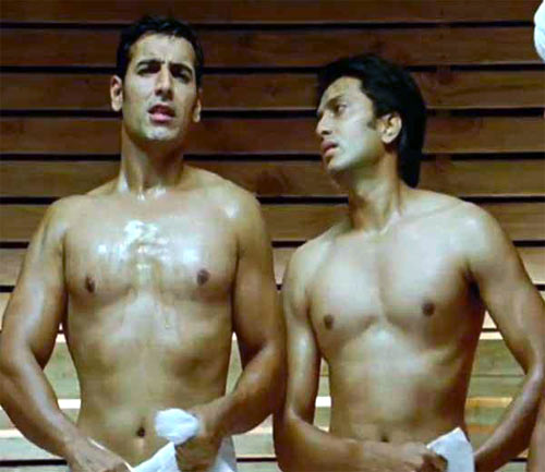 John Abraham and Riteish Deshmukh in Housefull 2