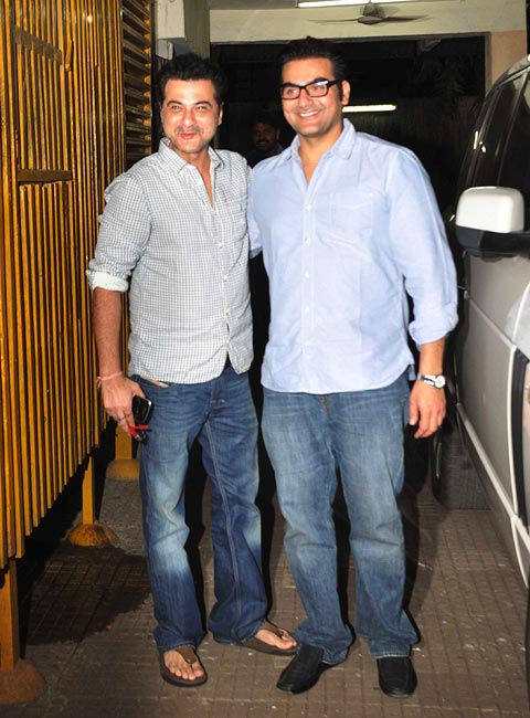 Arbaaz Khan and Sanjay Kapoor