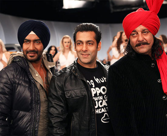 Ajay Devgn, Salman Khan and Sanjay Dutt in Son Of Sardaar