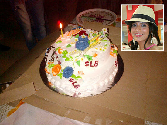 The birthday cake. Inset: Richa Chadda