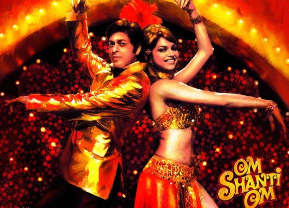 Shah Rukh Khan with Deepika Padukone in Om Shanti Om