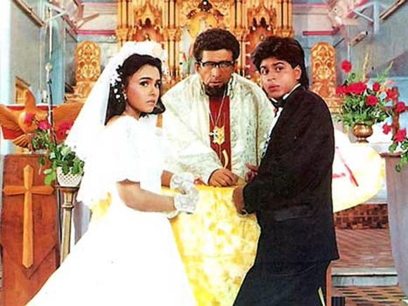Shah Rukh Khan with Suchitra Krishnamurthy and Naseeruddin Shah in Kabhi Haan Kabhi Naa