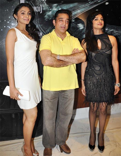 Andrea Jeremiah, Kamal Haasan and Pooja Kumar