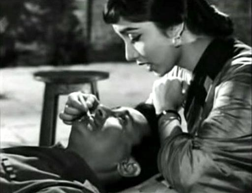 Sadhana and Dev Anand in Hum Dono.