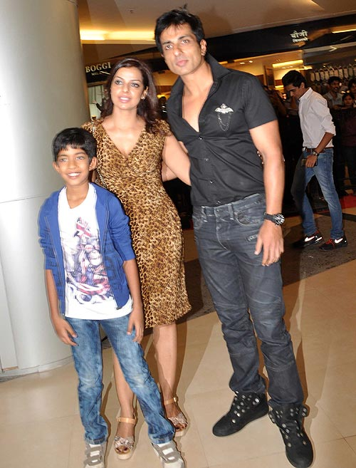 Sonu Sood with wife Sonali and son Ishant